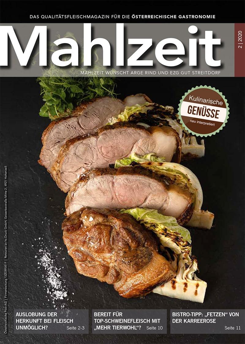 Die Titelseite des Magazins Mahlzeit, Ausgabe 2/20.